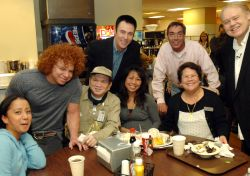 Lance Burton, Carrot Top, and Louie Anderson Share Lunch with Monte Carlo Workers